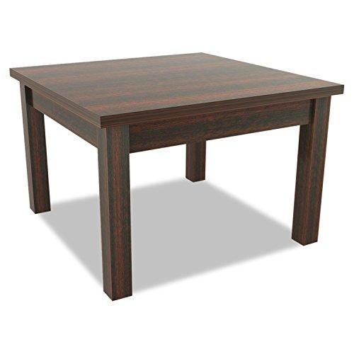 Alera ALEVA7524MY Valencia Series Occasional Table, Square,23-5/8 x 23-5/8 x 20-3/8,Mahogany