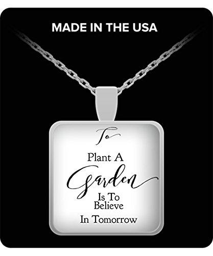 - Schur-Link Brands Gardener Gift! To Plant A Garden.Square Pendant Necklace