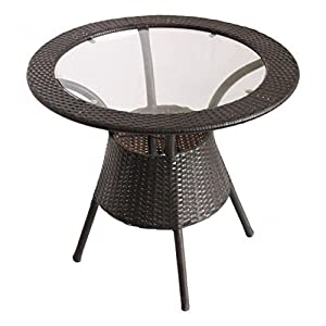Hindoro Indoor/Outdoor Garden Coffee and Centre Table (21x21x22.5 Inches, Brown)