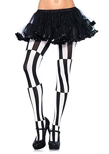 Leg Avenue Optical Illusion Pantyhose (Black/ White) by Leg Avenue