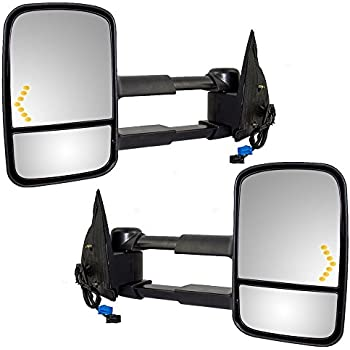 Driver and Passenger Power Tow Side Mirrors Heated Signal Telescopic Replacement for Cadillac Chevy GMC Pickup Truck GM1320355 GM1321355