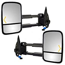 Driver and Passenger Power Tow Side Mirrors Heated Signal Telescopic Replacement for Cadillac Chevy GMC Pickup Truck GM1320355 GM1321355 by AUTOANDART