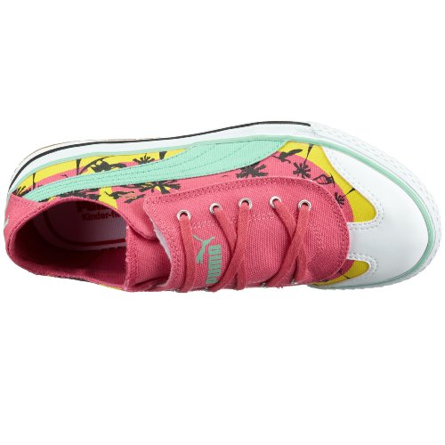 Puma 917 lo Cali Jr 349918, unisex – Niños Zapatillas - Pink (Honeysuckle-Neptunegreen-Yellowcream01)