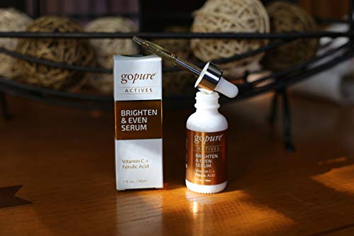 4160B1RCDTL - goPure Actives Professional Facial Vitamin C Serum for Anti Aging Face Serum Intensely Hydrates & Smoothes Deep Wrinkles, Fine Lines, Minimizes Dark Spots & Acne Scars - Cruelty Free