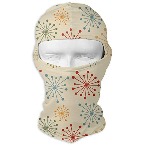 - JJKYL Vintage Seamless with Abstract Flowers Vector Image Full Face Mask Hood Sunscreen Mask Cycling Hunting Hiking Skiing Mask Dual Layer Cold for Men and Women