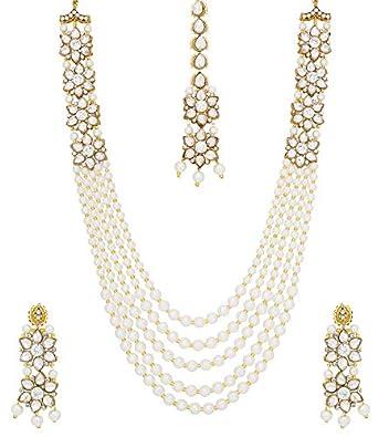 Engagement & Wedding Smart New Indian Fashion Jewelry Kundan Long Rani Har Necklace Earring Tikka Set Women