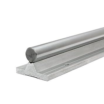 Präzisionswelle 20mm h6 geschliffen /& gehärtet 350mm Gewindebohrungen M10x25
