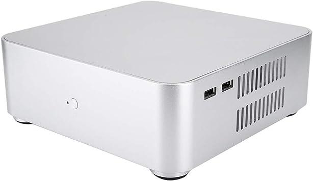 ASHATA Mini Caja de la Computadora, HTPC Chasis de Computadora de Aleación de Aluminio con Interfaz Dual USB2.0 para Placa Base ITX: Amazon.es: Electrónica