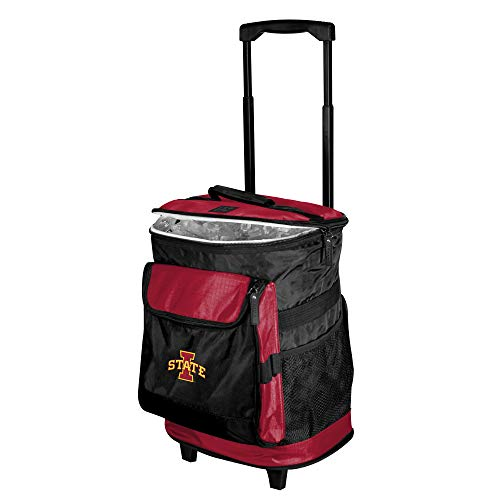 (Logo Brands NCAA Iowa State Cyclones Unisex IA State Rolling Cooler57B - Rolling Cooler, Cardinal, One Size)