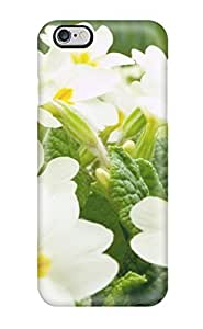 9575286K48610037 Tpu Case Skin Protector For Iphone 6 Plus White Flowers With Nice Appearance