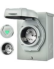 Kohree 50Amp Generator Power Inlet Box 30Amp, Outdoor Generator Transfer Switches Weatherproof for RV Travel