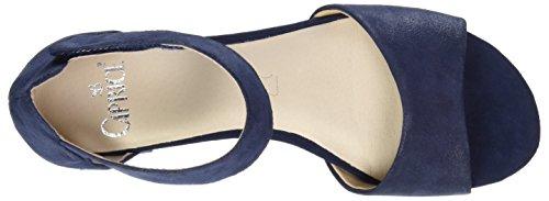 Caprice 28212, Sandalias con Cuña para Mujer Azul (Ocean Suede)