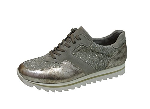 Women 's sneaker Gabor 63.301.62 torba platin Interchangeable footbed grau 43mhNB