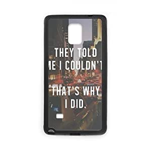 Quotes And Wisdom Samsung Galaxy Note 4 Case Black Yearinspace917575