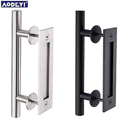 amazon com door handles 304 stainless steel sliding barn door