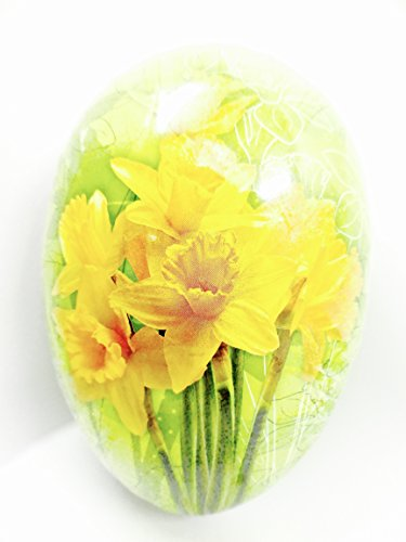Easter Egg Treat Filling Container,Daffodils,Green,6