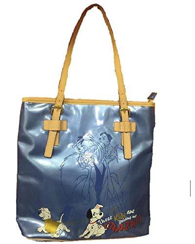 Borsa donna Disney Crudelia e i dalmata vernice Blu *02829