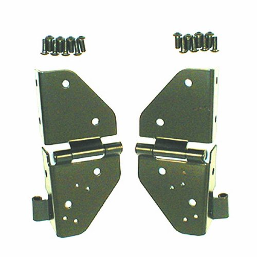 Rugged Ridge 11209.01 Black Windshield Hinge - Pair (Wrangler Jeep Hinge Windshield)
