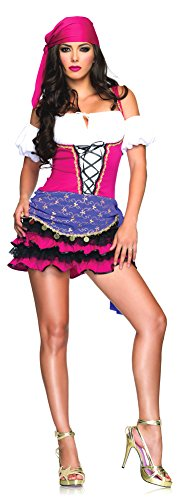 SALES4YA Adult-Costume Crystal Ball Gypsy Sm-Med Halloween -