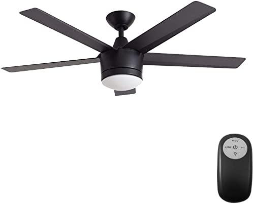 Home Decorators Collection Merwry LED 52″ Indoor Ceiling Fan Black
