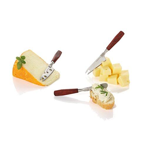 Boska Holland Rose Wood Mini Cheese Knives, 3 Piece Gift Set, 10 Year Guarantee, Taste ()