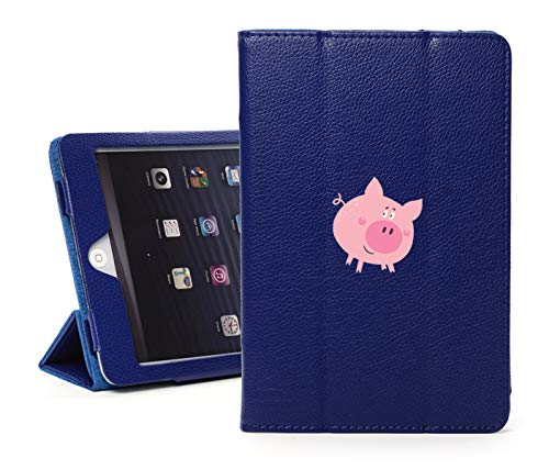 (Leather Magnetic Smart Case Cover Stand for Apple iPad Happy Pig (for iPad Air 2, Blue))
