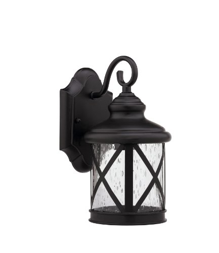 Chloe Lighting Chloe Lighting MILANIA ADORA Transitional Wall-Mount 1-Light Outdoor Rubbed Bronze Sconce For Sale