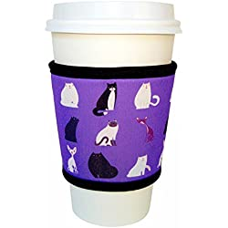 Joe Jacket Neoprene Drink Insulator, Coffee Sleeve, Cup Grip, Cats
