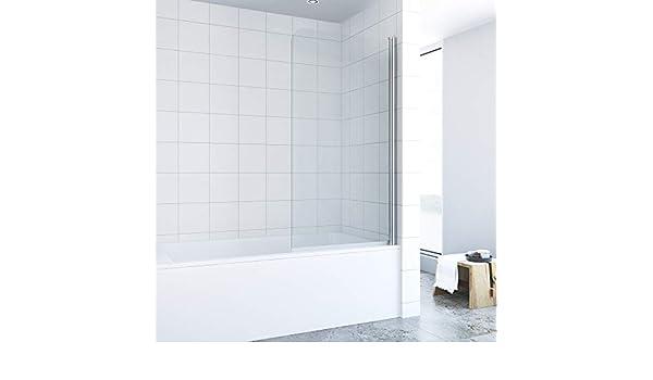 Mampara de ducha para bañera, 80 x 140 cm, con nanorevestimiento, de vidrio templado de 5 mm: Amazon.es: Bricolaje y herramientas