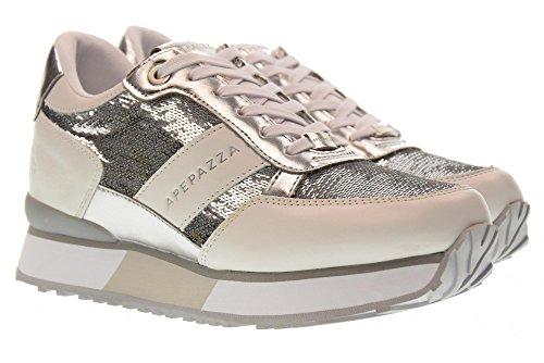 en Chaussures Argent RSD14 Basses Renee Baskets Coin pailleté Apepazza Blanc vtwqHdxq
