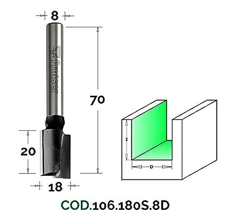 Fresas de cortes rectos para pantó grafos - D 10/I 30/S 8X40 - Fraiser