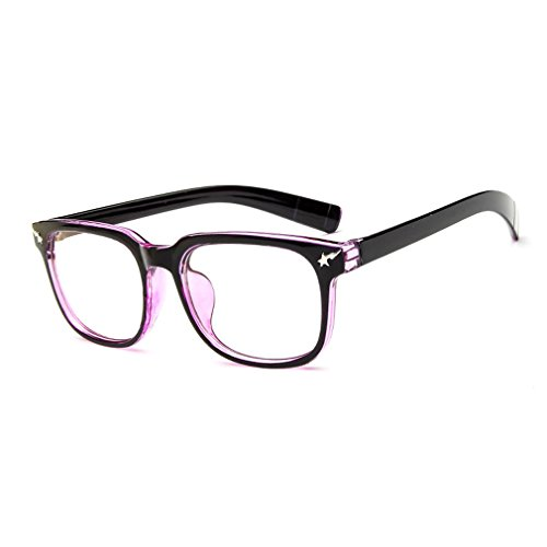 LOMOL Girls Retro Lovely Personality Student Style Transparent Lens Wayfarer Frame - Sunnies Custom And Cutler Gross