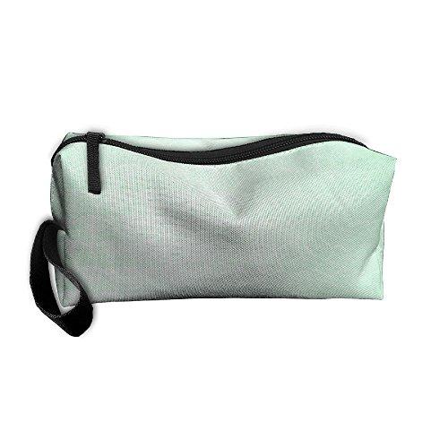 Mint Green Zipper Up Portable Bag Hand Bag For ()