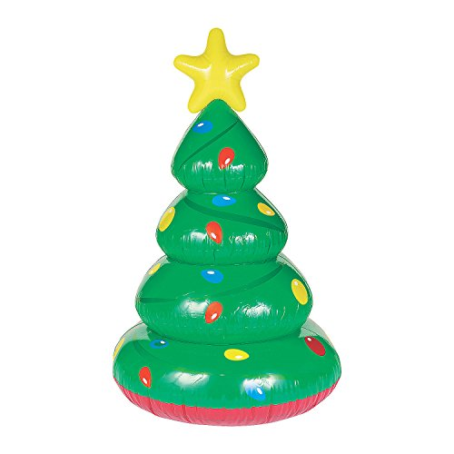 Fun Express - Large Inflatable Christmas Tree for Christmas - Toys - Inflates - Inflatable Characters - Christmas - 1 Piece (Christmas Trading Tree Oriental)