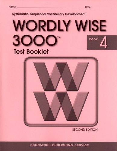Wordly Wise 3000 Grade 4 Test Booklet