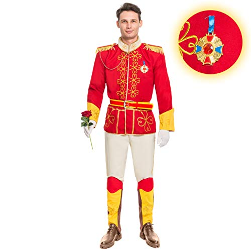 Spooktacular Creations Men's Prince Charming Costume Adult (Small) Red