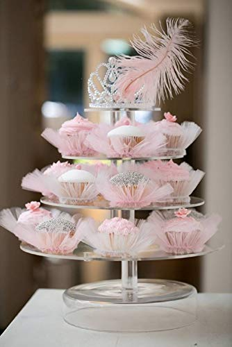 Deluxe Wedding Birthday Girls Party Events Cake Tutu Decorations Pink White Black Purple Rosy (Cupcake Tutu, Pink)