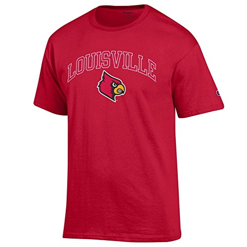 Elite Fan Shop Louisville Cardinals Tshirt Varsity Red - M (Louisville Cardinals Fan)