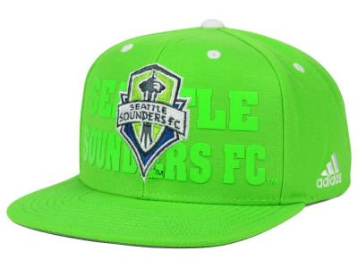 Seattle Sounders Rave Green adidas MLS Academyスナップバック帽子キャップ   B01LYU6A2P