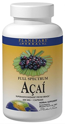 Cheap Planetary Herbals Full Spectrum Acai Extract Capsules, 500 mg, 120 Count