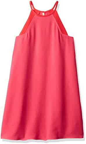Calvin Klein Big Girls' Colorblock Halter Dress