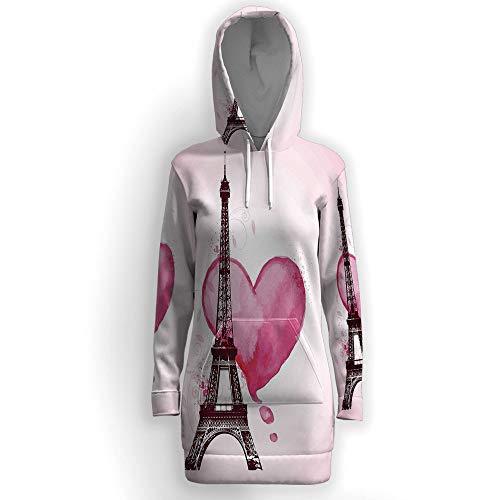 (iPrint Fashion Long Sleeve,Eiffel Tower)