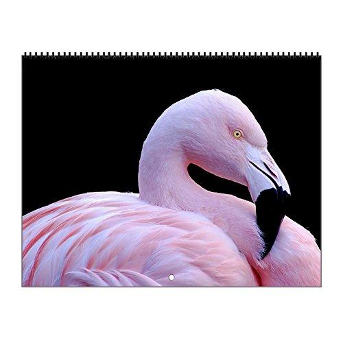 CafePress - Pink Flamingo - 2017 Wall Calendar, Quality High
