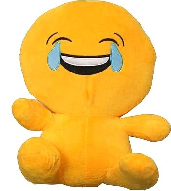 Poofy Moji Emoji Smiley Emoticon Laughing Tear Round Cushion Stuffed Plush Cute Perfect lint-Free Nice Hand Feeling Soft and no Odors. Also The Happiest Present in The World!]()