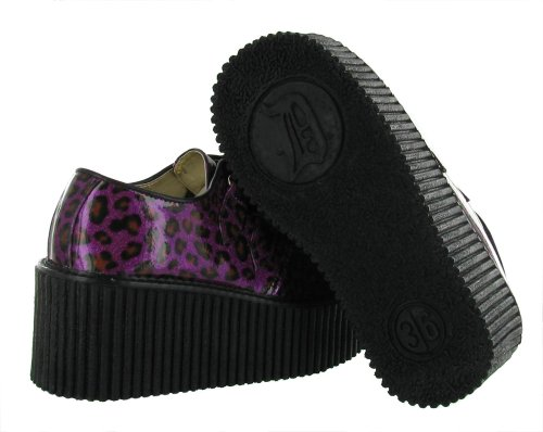 UK EU Demonia CREEPER 6 208 Cheetah Pat 39 Gltr Purple WFYY4rq8
