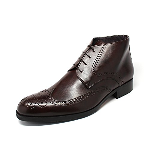 Brown-Vegan-Full-Brogue-Boots-Made-in-Italy