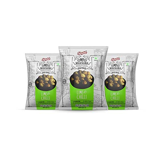 Mr. Makhana Roasted Makhana - 3x80gm - Lime & Chill