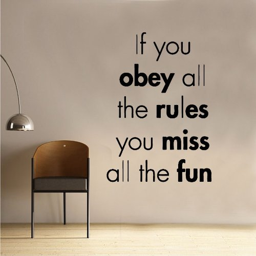 If You Obey Decal Wall Sticker (Obey Flower)