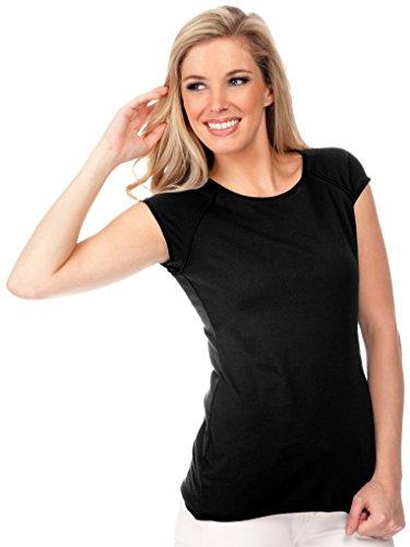 Water Womens Cap Sleeve T-shirt - Kavio! Junior Raglan Muscle Cap Sleeve Top Black L