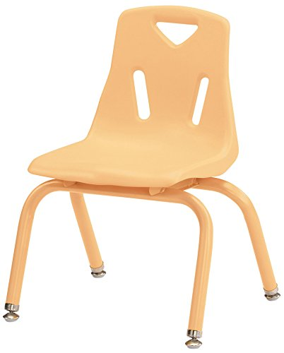 Berries 8122JC1251 Stacking Chair with Powder-Coated Legs, 12'' Height, Camel by Berries